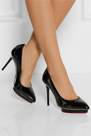 Charlotte Olympia Debbie patent-leather pumps