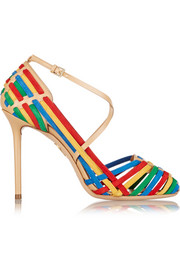 Charlotte Olympia Mariachi  leather and suede pumps
