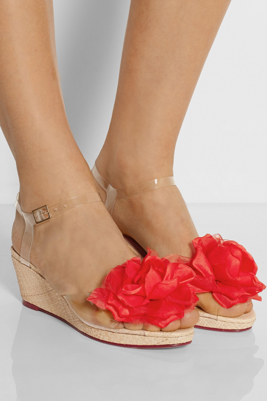 Charlotte Olympia Alexa embellished PVC wedge sandals