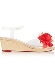 Alexa embellished PVC wedge sandals