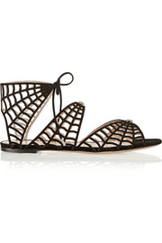 Miss Muffet cutout suede sandals