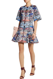 Temperley London Arielle printed satin-twill mini dress