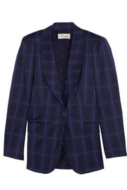 Millie checked wool blazer