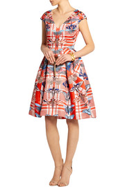 Temperley London Arielle printed satin-twill dress
