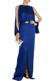 Temperley London Faye embellished silk-jacquard gown