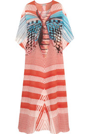 Temperley London Papillon printed silk-chiffon kaftan