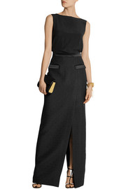 Temperley London Marino satin-trimmed matelassé maxi skirt