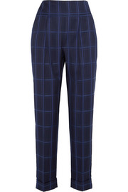 Millie checked wool tapered pants