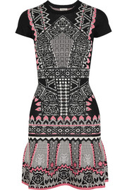 Keita intarsia jersey mini dress