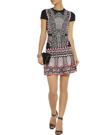 Temperley London Keita intarsia jersey mini dress