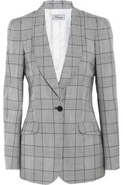 Temperley London Millie Prince of Wales check wool and mohair-blend blazer