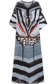 Temperley London Printed silk-chiffon kaftan