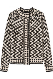 Empire jacquard-knit merino wool jacket