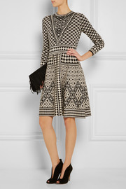 Temperley London Empire jacquard-knit merino wool dress