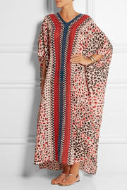 Temperley London Aponi printed silk-chiffon kaftan