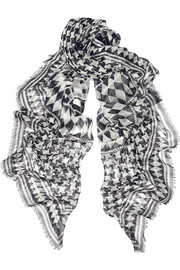 Temperley London Empire printed modal and silk-blend scarf