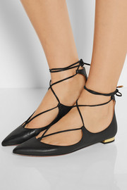 Aquazzura Christy leather point-toe flats