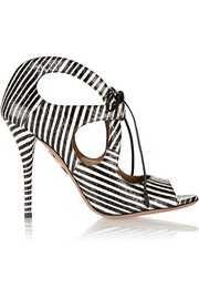 C'est Chic striped elaphe sandals