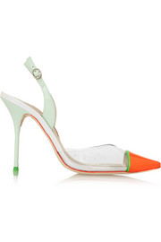 Sophia Webster Daria patent-leather and PVC pumps