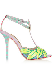 Sophia Webster Flamingo patent-leather sandals
