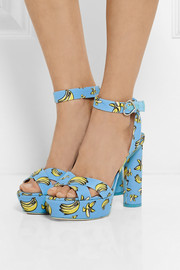 Sophia Webster Amanda printed faille sandals
