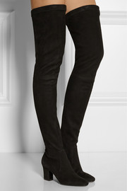 Dream stretch-suede thigh boots