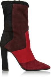 Tamara Mellon Crush shearling-lined suede ankle boots