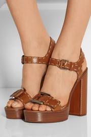 Michael Kors Janey leather platform sandals