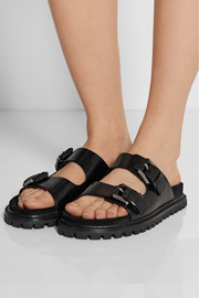 Michael Kors Alanis leather slides