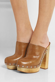 Michael Kors Perri leather platform clogs
