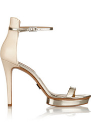 Michael Kors Doris mirrored-leather sandals