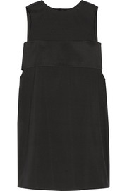 T by Alexander Wang Layered stretch-silk twill mini dress