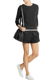 T by Alexander Wang Stretch-silk twill shorts