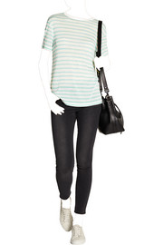 T by Alexander Wang Striped slub jersey T-shirt