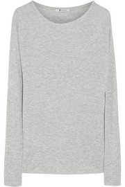 T by Alexander Wang Ribbed jersey top