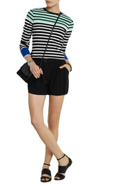 T by Alexander Wang Striped stretch-cotton top