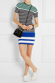 T by Alexander Wang Striped stretch-cotton mini dress