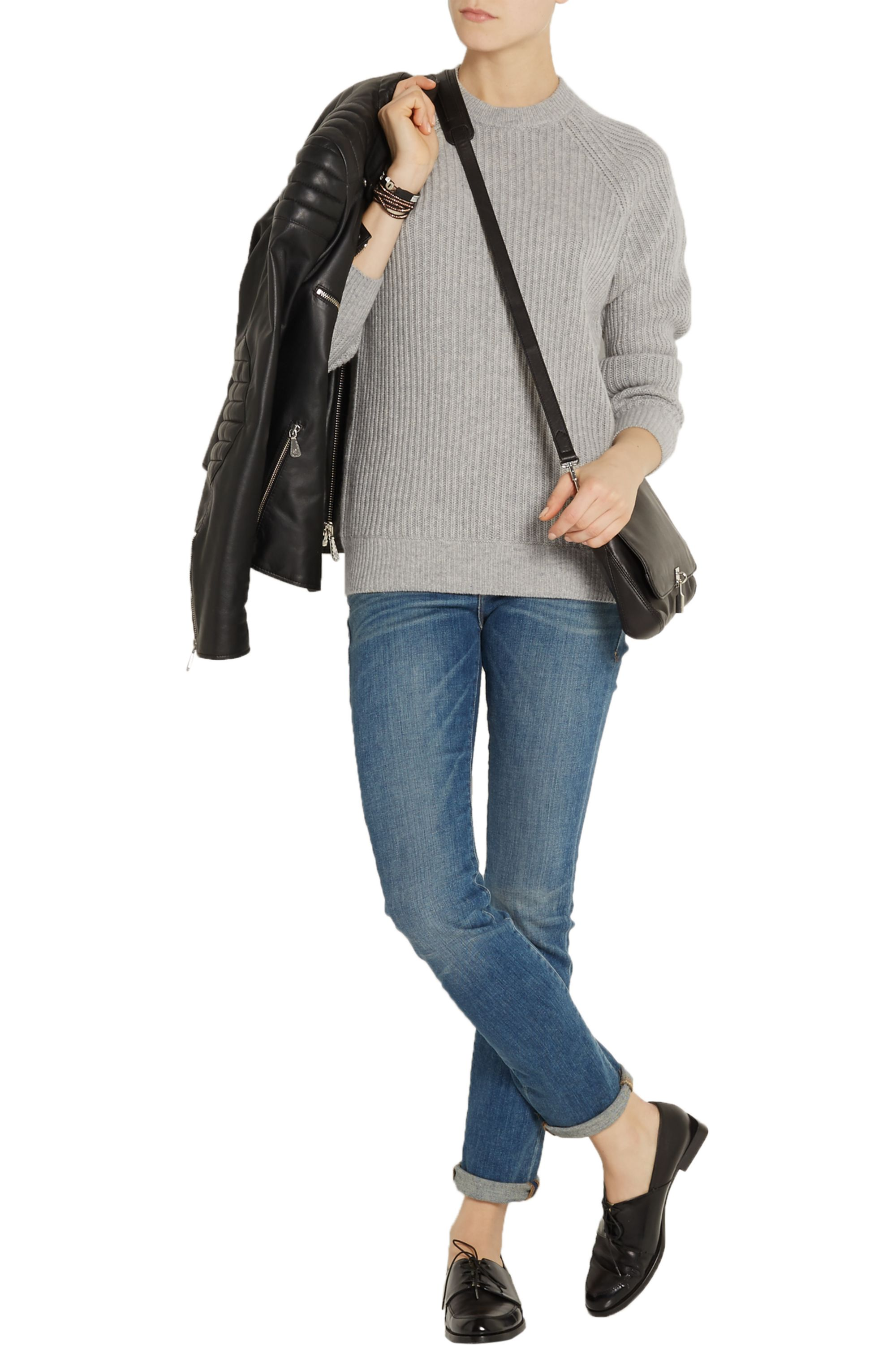 alexanderwang.t Wool and cashmere-blend sweater