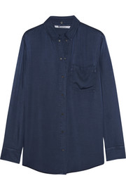 T by Alexander Wang Satin-jersey shirt