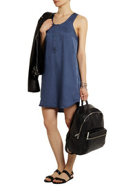 T by Alexander Wang Satin-jersey mini dress