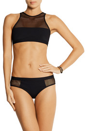 T by Alexander Wang Mesh-paneled bikini briefs