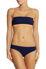 T by Alexander Wang Two-tone bandeau bikini top