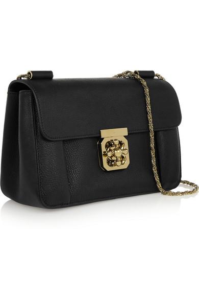 Chlo�� | Elsie medium textured-leather shoulder bag | NET-A-PORTER.COM