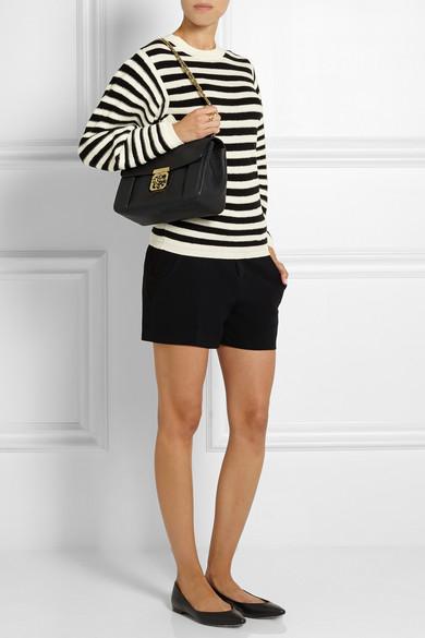 Chlo¨¦ | Elsie medium textured-leather shoulder bag | NET-A-PORTER.COM