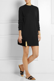 Alexander Wang Silk and cashmere-blend sweater mini dress