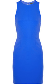 Cutout-back stretch-crepe mini dress