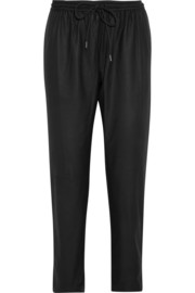 Alexander Wang Hybrid leather track pants