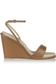 Hampton leather wedge sandals