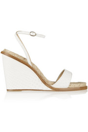 Paul Andrew Hampton python espadrille wedge sandals