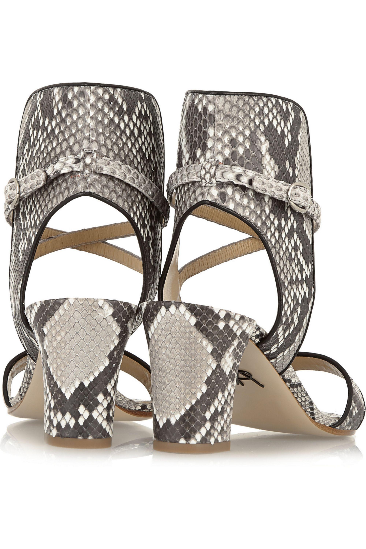 Paul Andrew Lexington python sandals